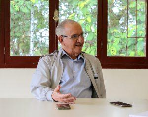 José Roosevelt Pereira foi professor na UFJF de 1962 a 1990 onde construiu, como engenheiro, os reservatórios do ICE, que também abasteciam o extinto ICH, atual Faculdade de Letras (Foto: Giulia Vaz/UFJF)