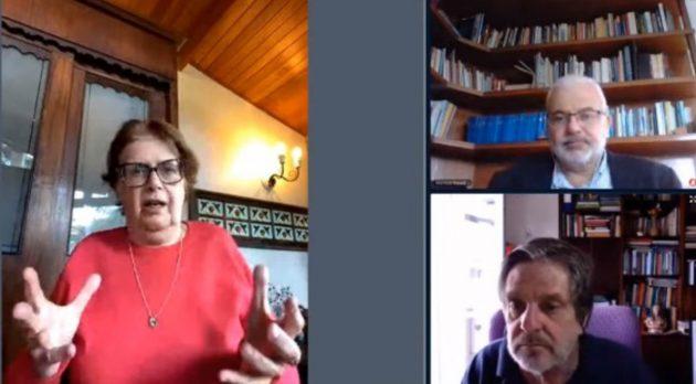 Participaram da mesa virtual a deputada federal Margarida Salomão, o reitor da UFJF, Marcus David, e o ex-reitor da UFRJ, Roberto Leher