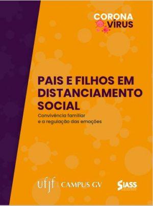 Capa da Cartilha Pais e Filhos em Distanciamento Social