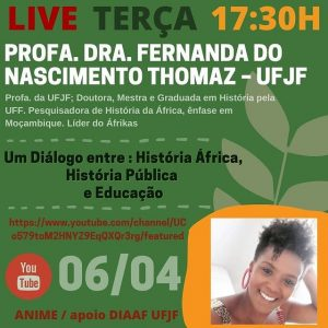 Evento com a pesquisadora Fernanda Thomaz é gratuito e aberto ao público