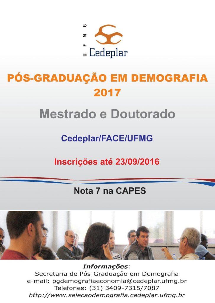 Cartaz Programa Demografia