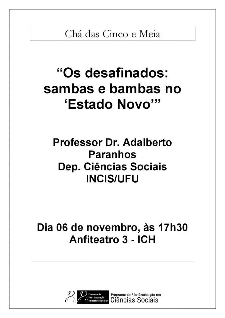 Cartaz Chá Adalberto Paranhos 06.11