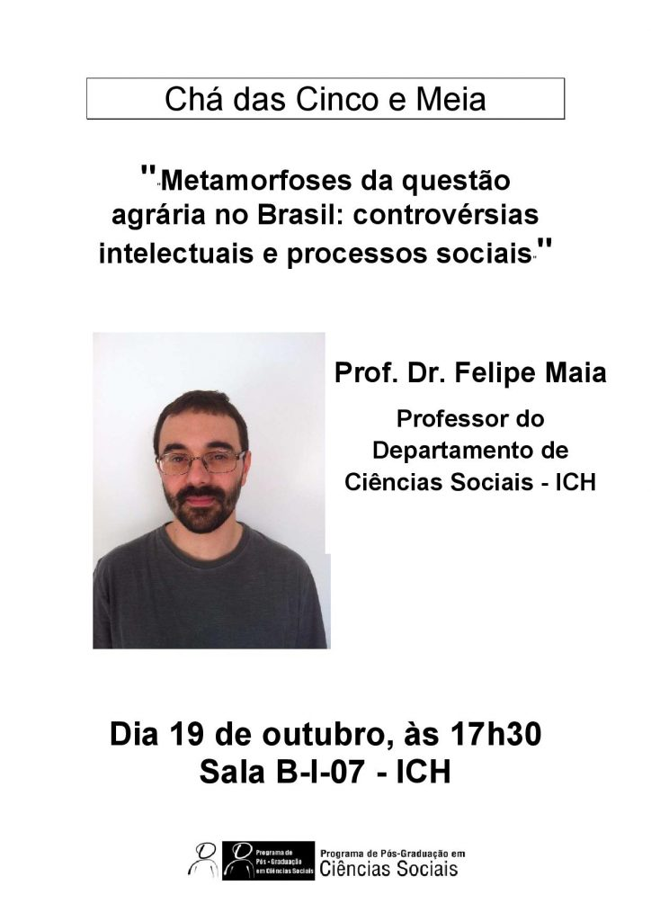 Cartaz Chá Felipe Maia 19-10-2015