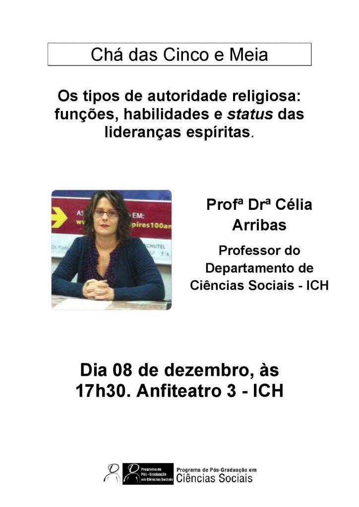 Cartaz Chá Célia Arribas 8.12
