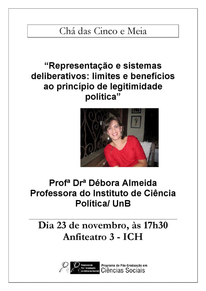 Cartaz Chá Débora Almeida 23.11