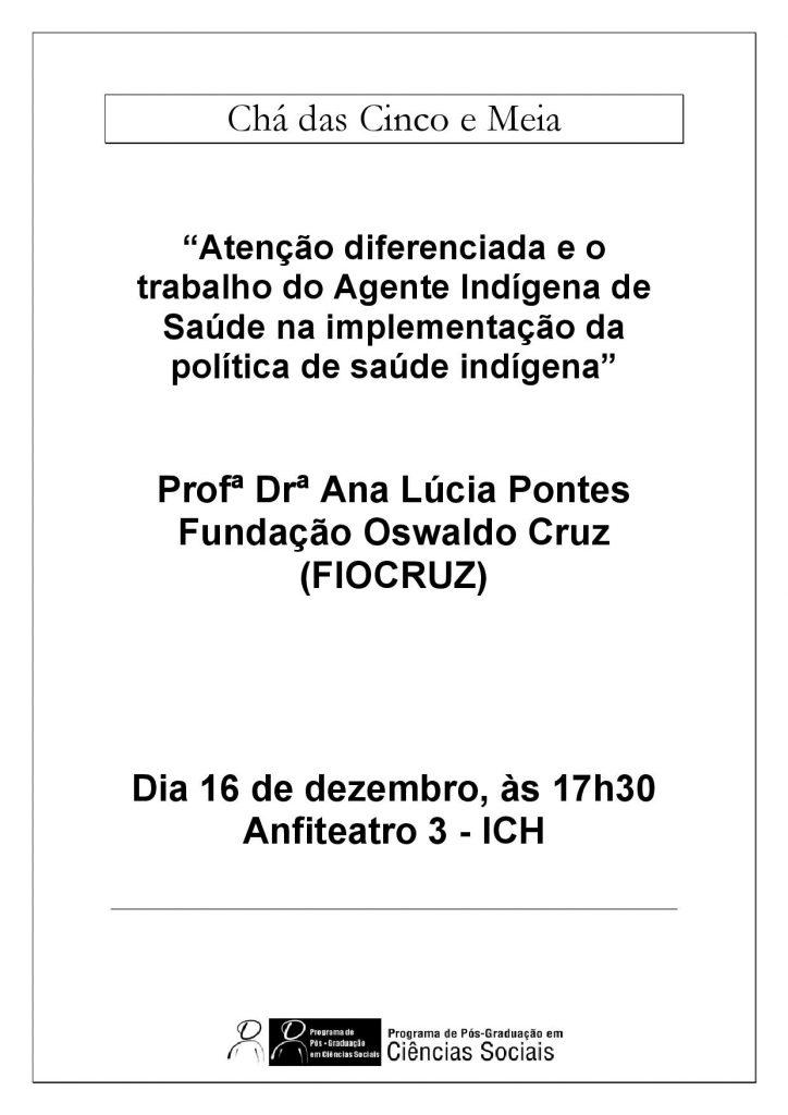 Cartaz Chá Ana Lucia Pontes 16.12