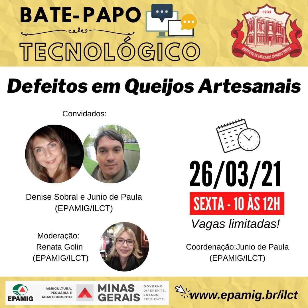 Bate Papo Tecnológico: Defeitos em Queijos Artesanais