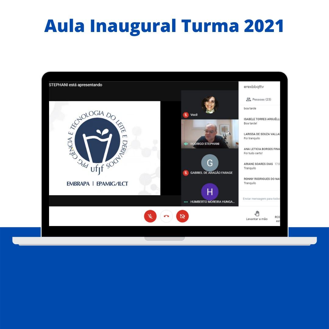 Aula Inaugural – Turma 2021: Sejam bem-vindos!