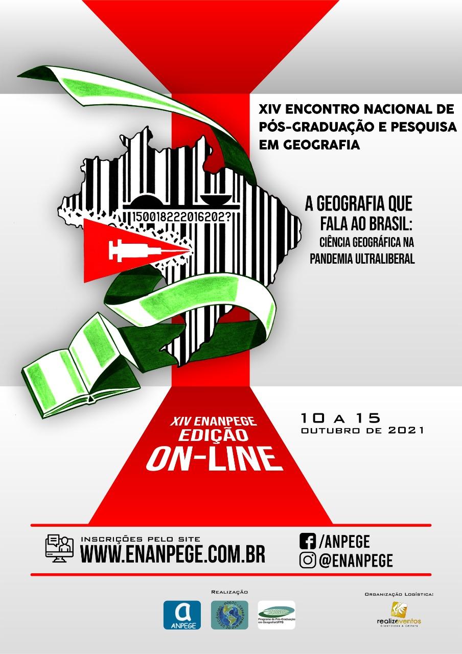 PPGEO/UFJF DIVULGA:  XIV ENANPEGE! DE 10 A 15 DE OUTUBRO DE 2021!