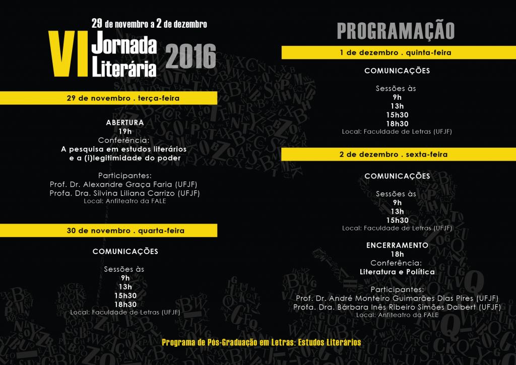Cartaz-VI Jornada Literária do PPG