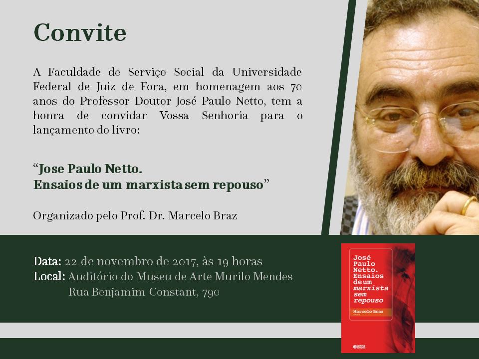 Convite Jose Paulo com livro