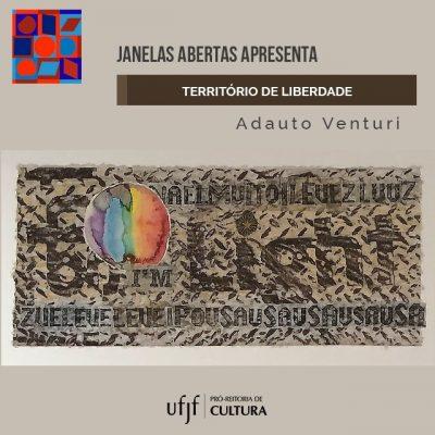 """Arte de divulgação do Ebook """"Território de liberdade"""", de Adauto Venturi."""