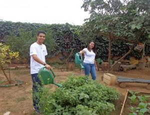 Os bolsistas Fernanda Hellen e Victor Coelho já iniciaram as atividades do projeto (Foto: Divulgação)