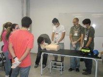 Alunos do curso de Medicina em Valadares participam de treinamento de suporte básico à vida (Foto: Arquivo pessoal)