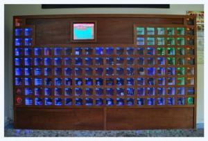 Tabela periódica é um dos elementos visuais usados no projeto