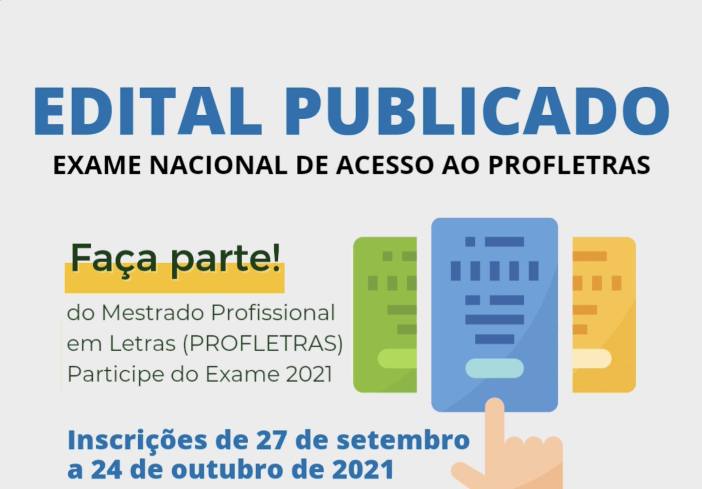 Publicado o Edital do Exame Nacional do PROFLETRAS