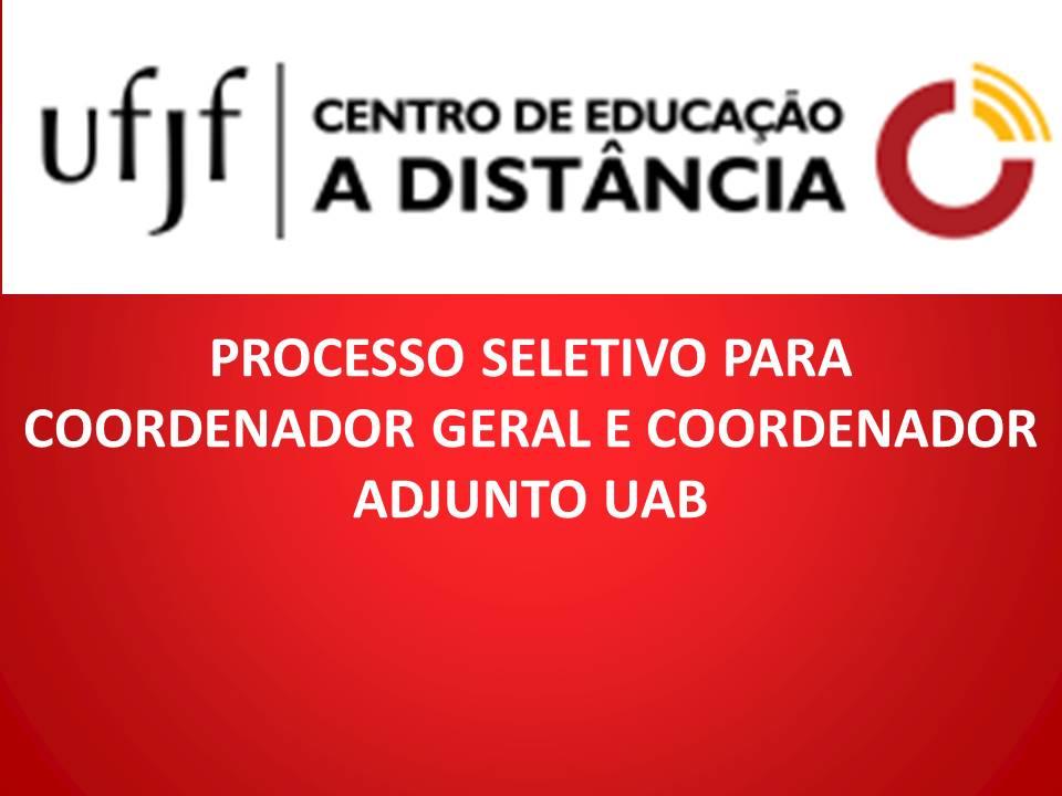 Resultado final do Processo Seletivo para Coordenação da UAB