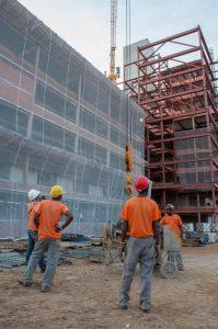 Parte da obra de ampliação do HU-UFJF (Unidade Dom Bosco). (Foto: Géssica Leine)