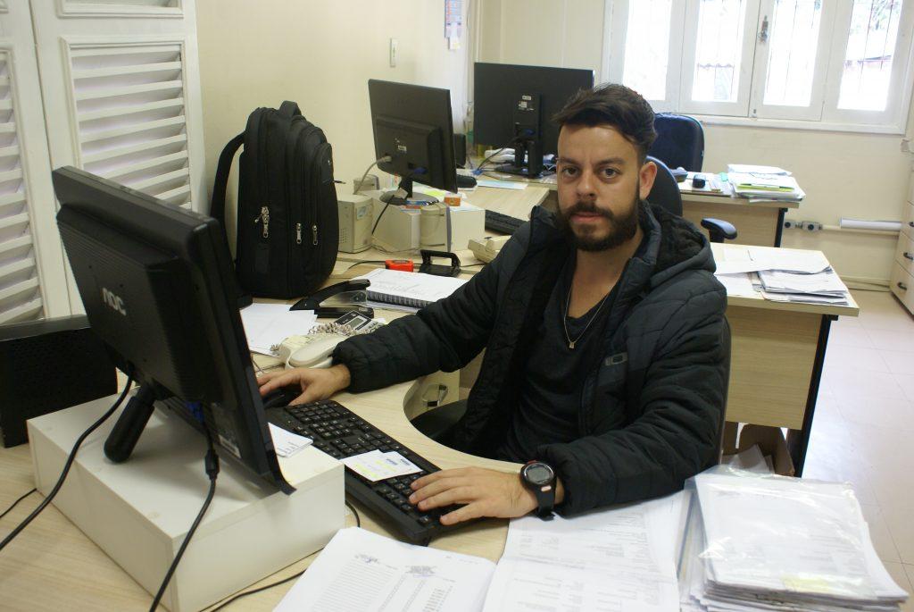 Higor Coimbra, servidor da PROINFRA e um dos organizadores do projeto. Foto: Adriely Furtado