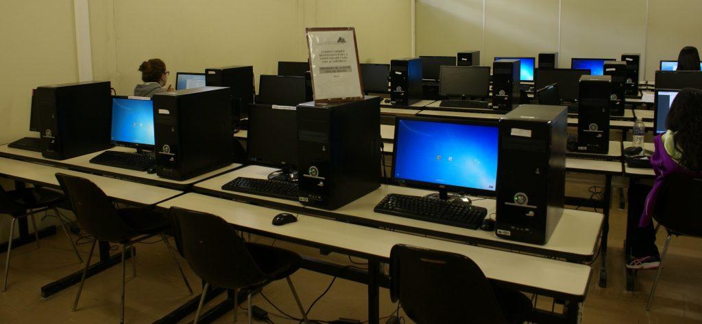 InfoCentro da Biblioteca Central. Foto: Adriely Furtado