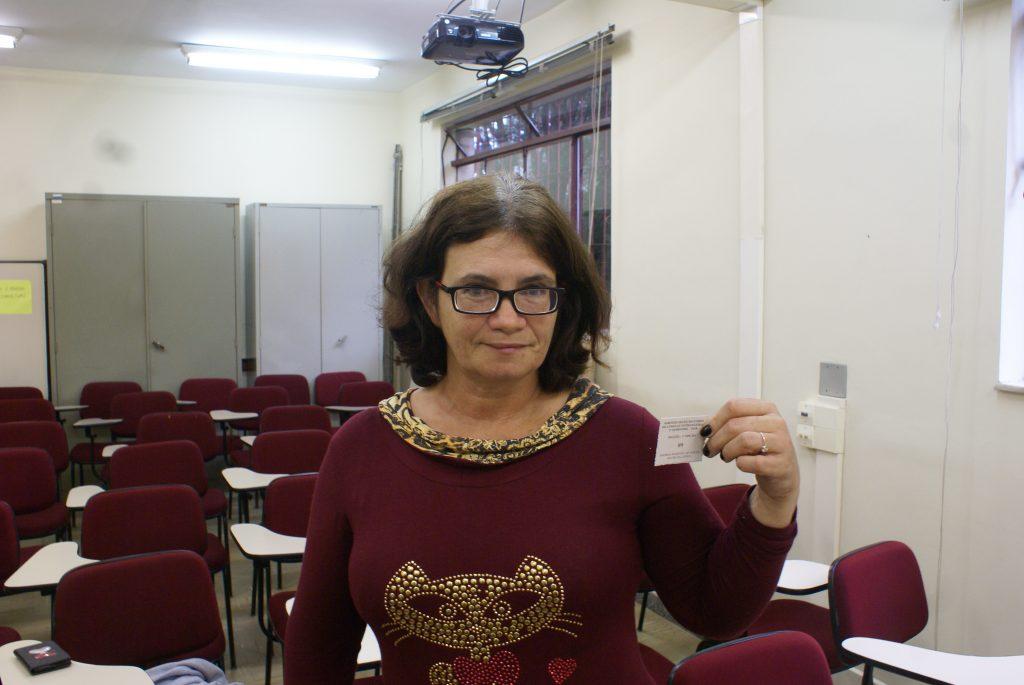 Andrea Martha de Souza foi sorteada para o curso de inglês./ Foto: Eduardo Neto