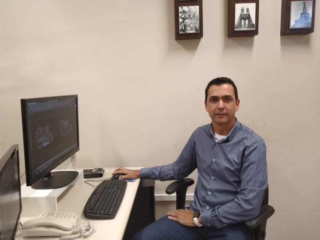 Vagner Vieira Reis, Engenheiro Eletricista da Proinfra. Foto: Jacqueline Silva