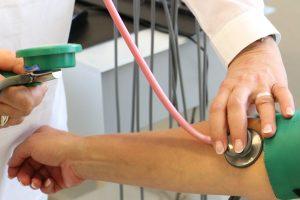 Foto exame clínico em um paciente.