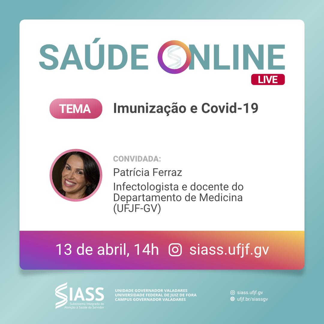 SIASS GV promove live sobre imunização e Covid-19