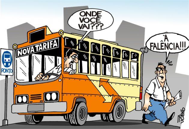 Tarifa de ônibus _Charge Bello