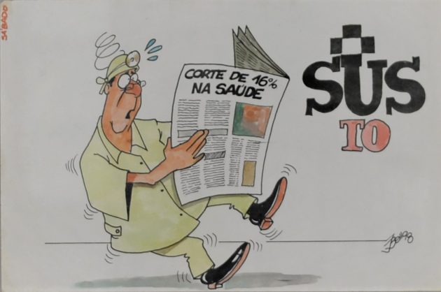cortes_na_saude_SUS_charge_Bello